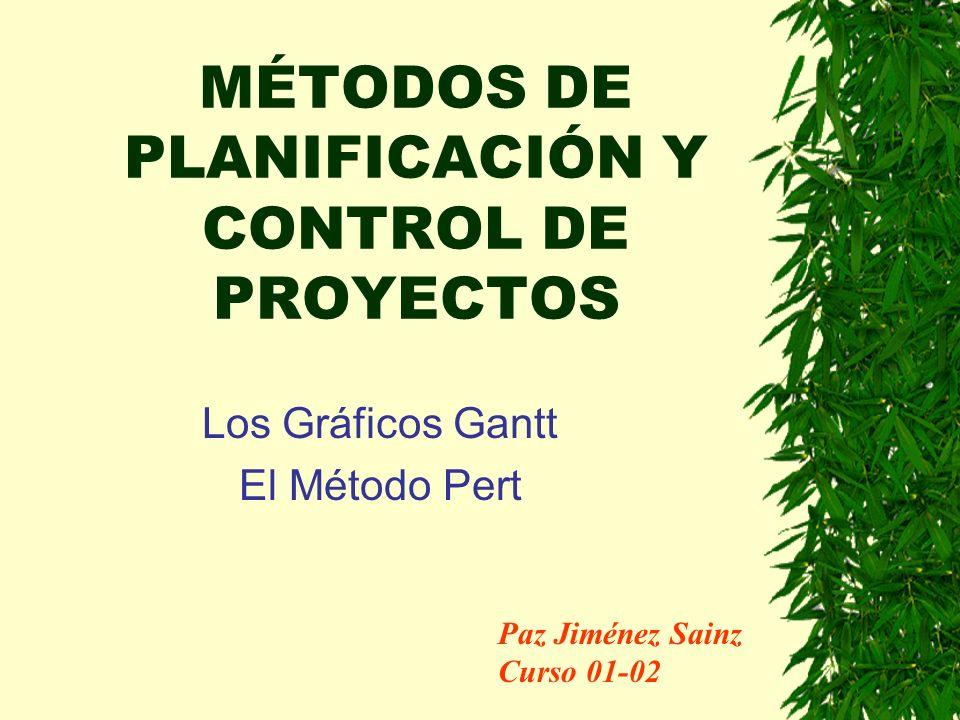 MÉTODOS DE PLANIFICACIÓN Y CONTROL DE PROYECTOS