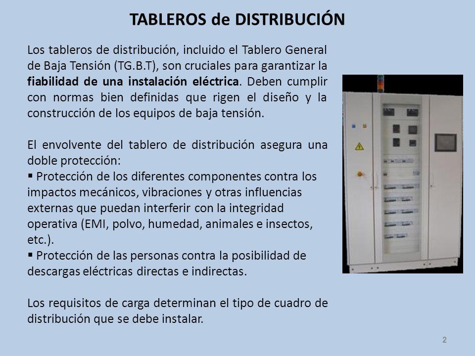 TABLEROS de DISTRIBUCIÓN