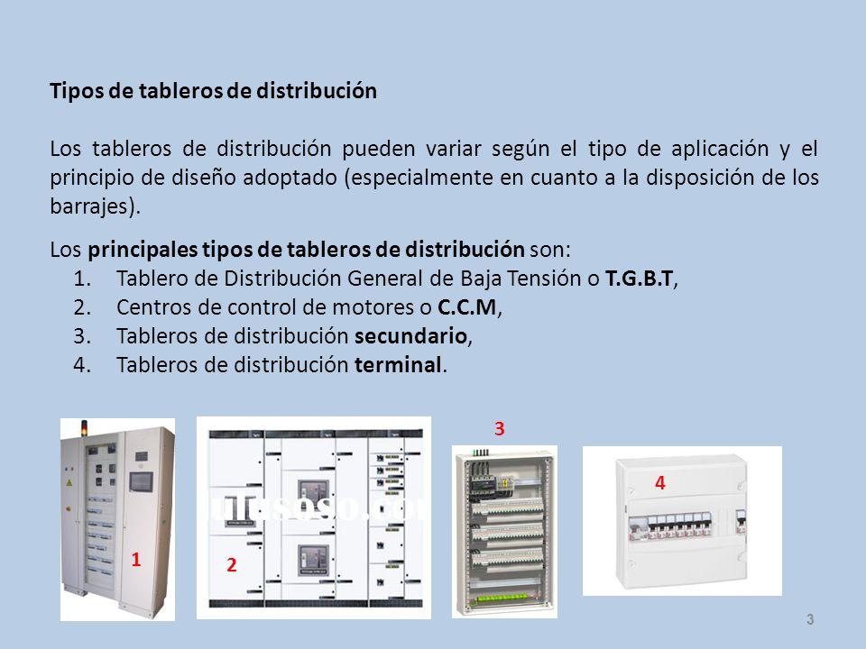 Tipos de tableros de distribución