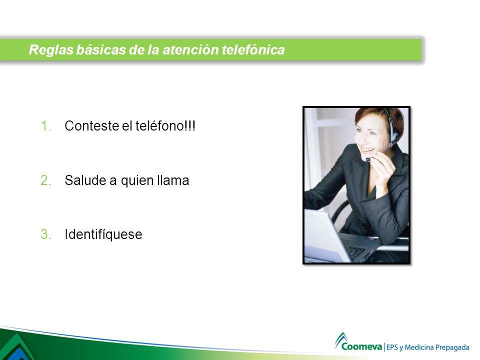 Reglas básicas de la atención telefónica