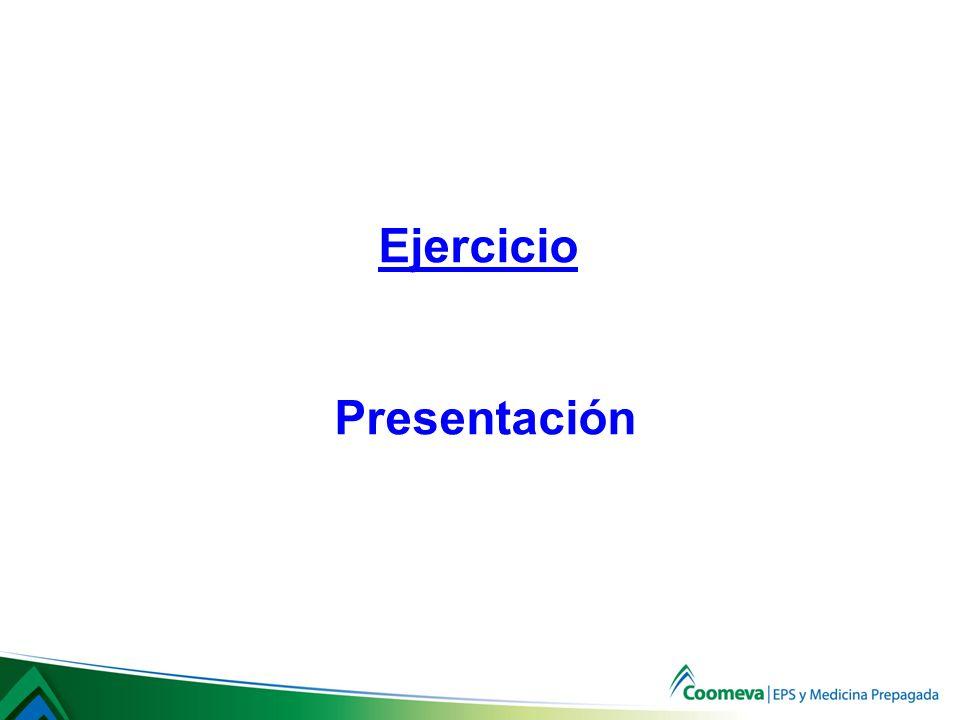 Ejercicio Presentación