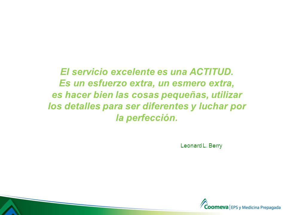 El servicio excelente es una ACTITUD.