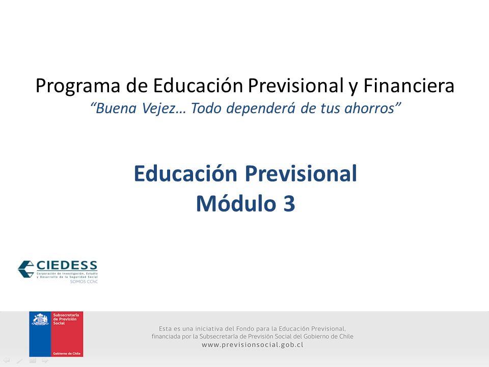 Educación Previsional Módulo 3