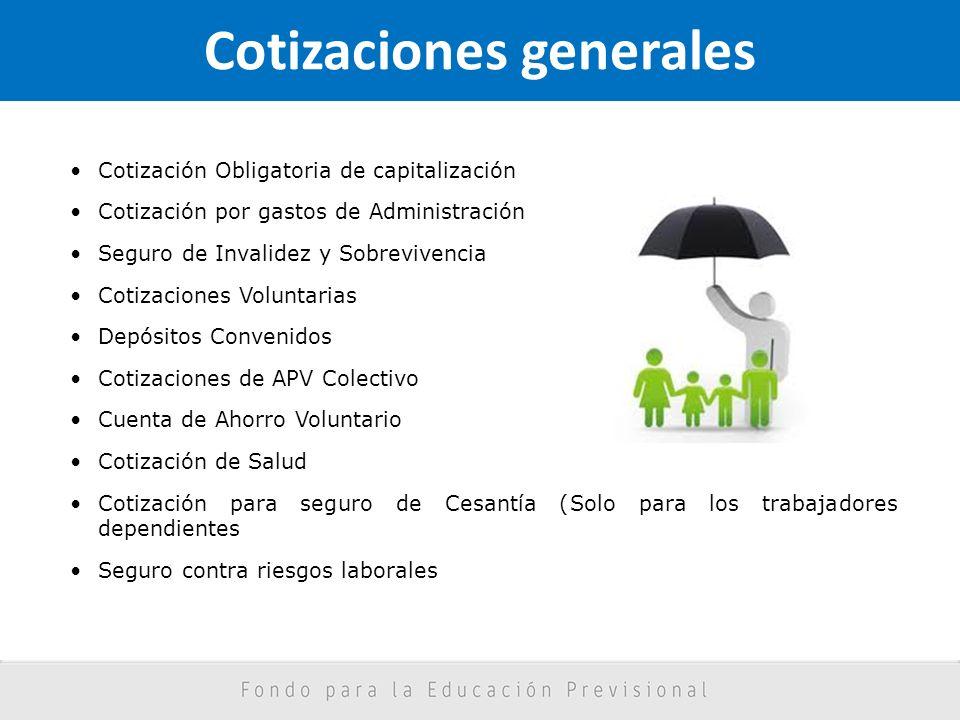 Cotizaciones generales