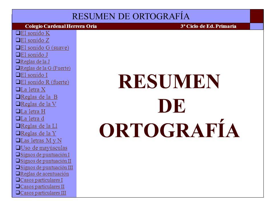 RESUMEN DE ORTOGRAFÍA