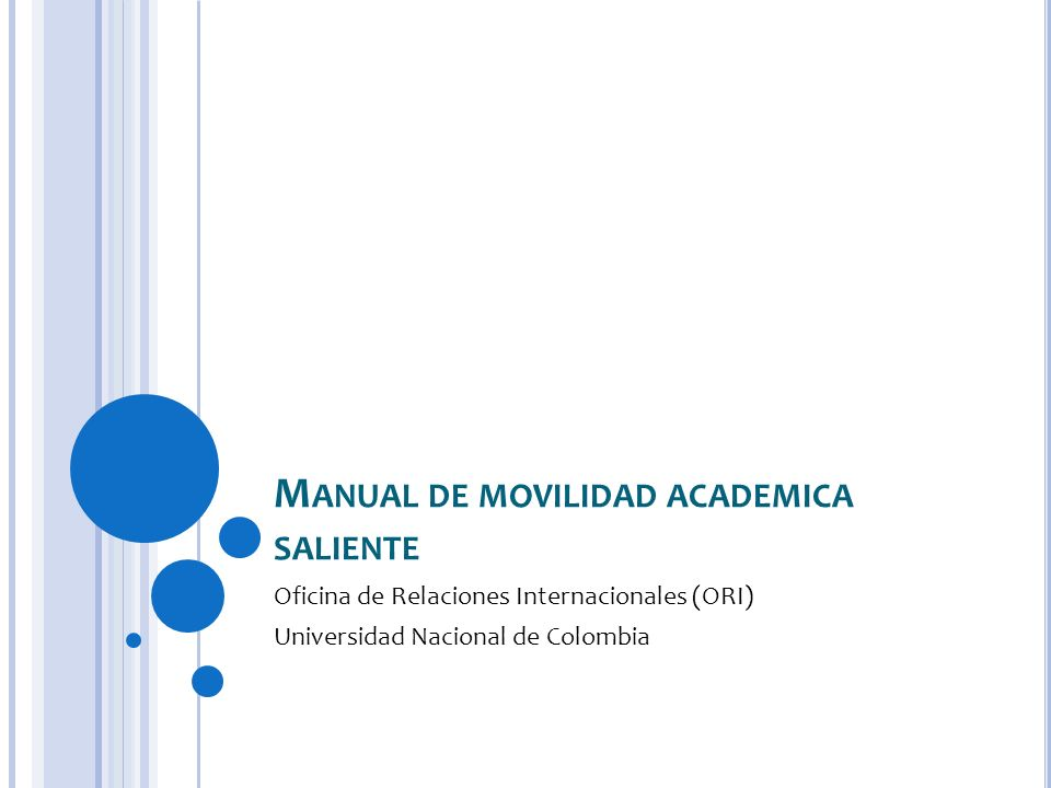 Manual de movilidad academica saliente