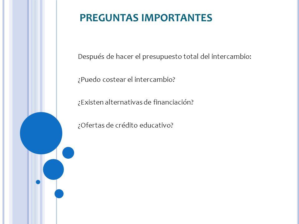 PREGUNTAS IMPORTANTES