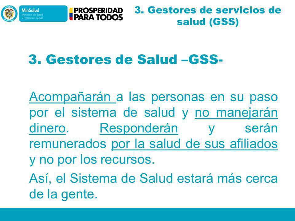 3. Gestores de servicios de salud (GSS)