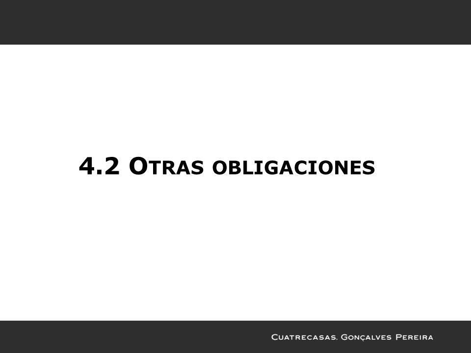4.2 Otras obligaciones
