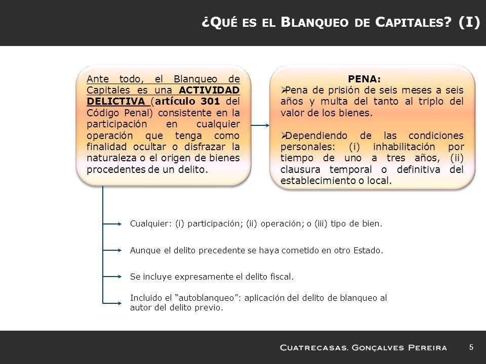 ¿Qué es el Blanqueo de Capitales (I)
