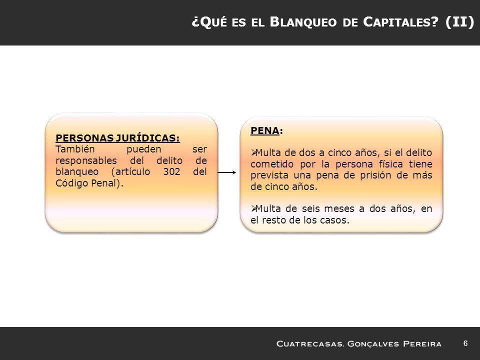 ¿Qué es el Blanqueo de Capitales (II)