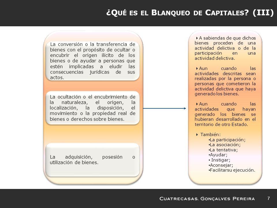¿Qué es el Blanqueo de Capitales (III)