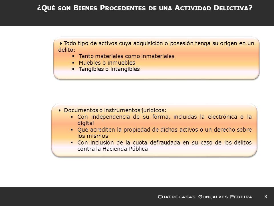 ¿Qué son Bienes Procedentes de una Actividad Delictiva