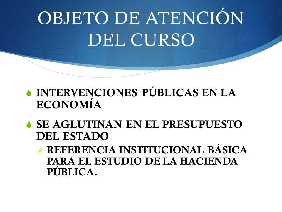 OBJETO DE ATENCIÓN DEL CURSO