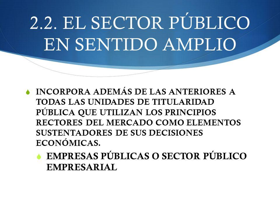 2.2. EL SECTOR PÚBLICO EN SENTIDO AMPLIO