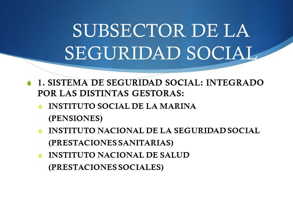 SUBSECTOR DE LA SEGURIDAD SOCIAL