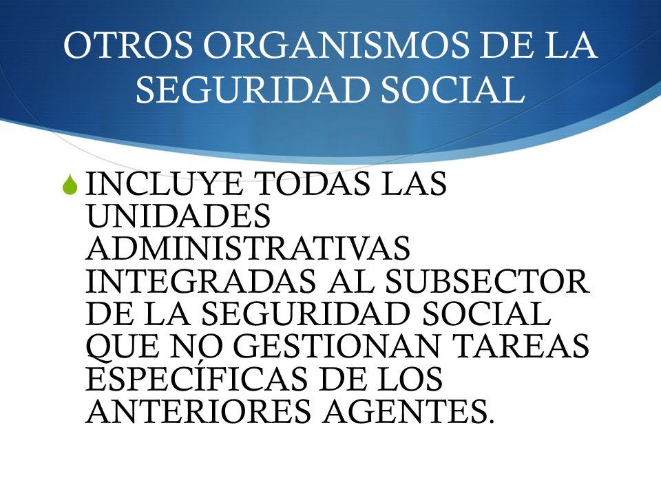 OTROS ORGANISMOS DE LA SEGURIDAD SOCIAL