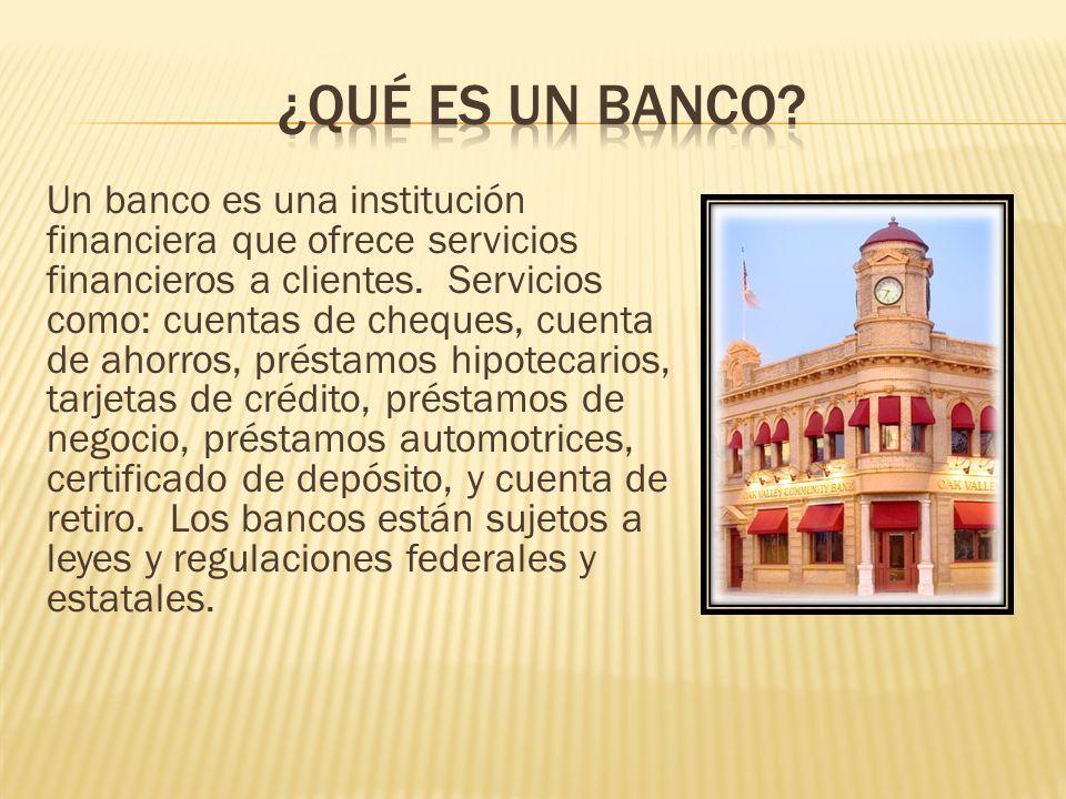 ¿Qué es un Banco