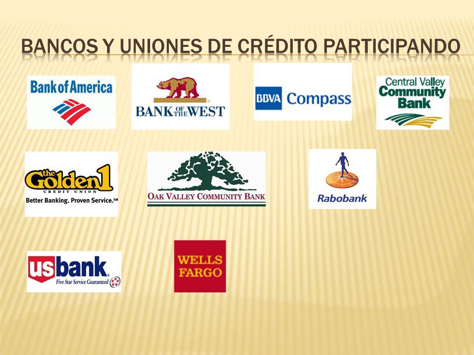Bancos y uniones de crédito participando
