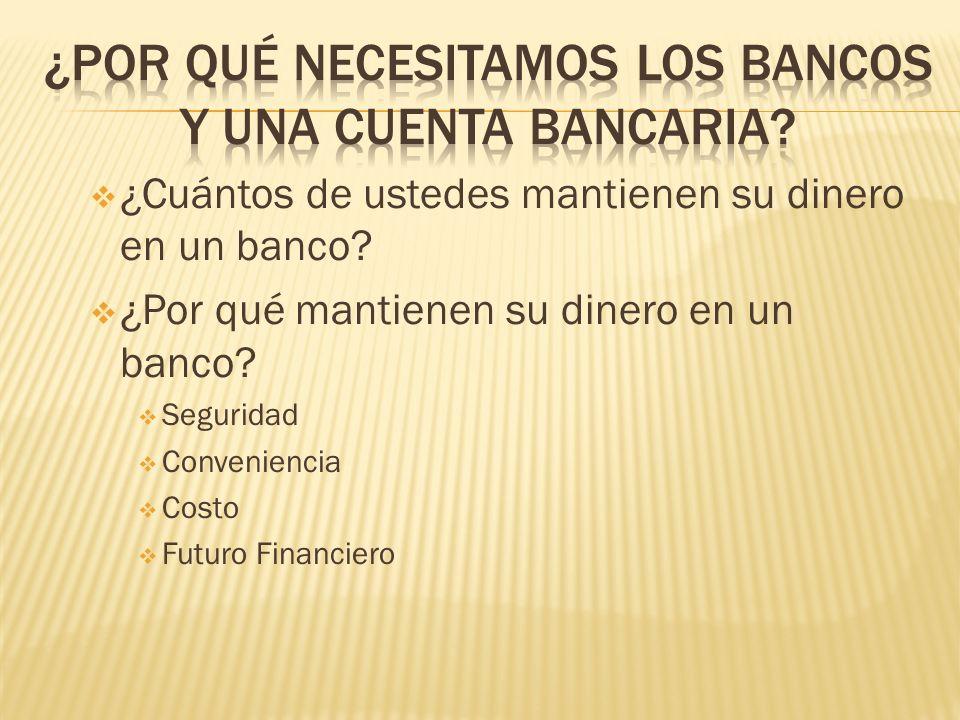 ¿Por qué necesitamos los bancos y una cuenta bancaria