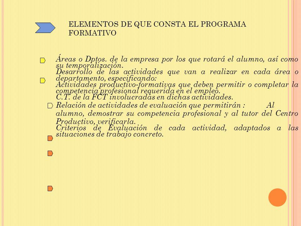 ELEMENTOS DE QUE CONSTA EL PROGRAMA FORMATIVO