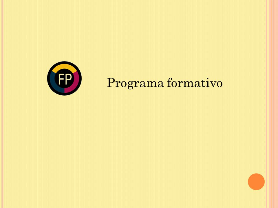 Programa formativo