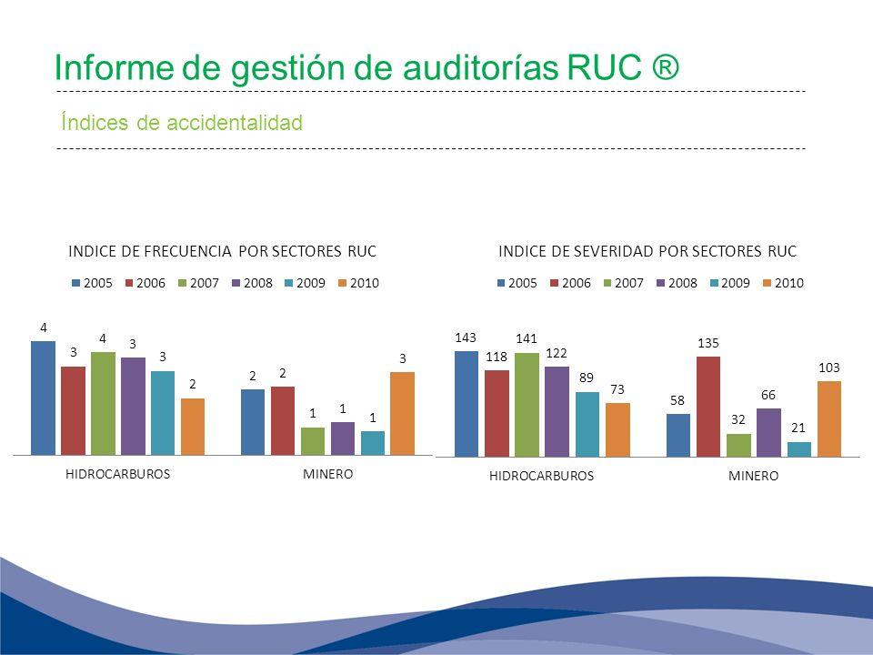 Informe de gestión de auditorías RUC ®