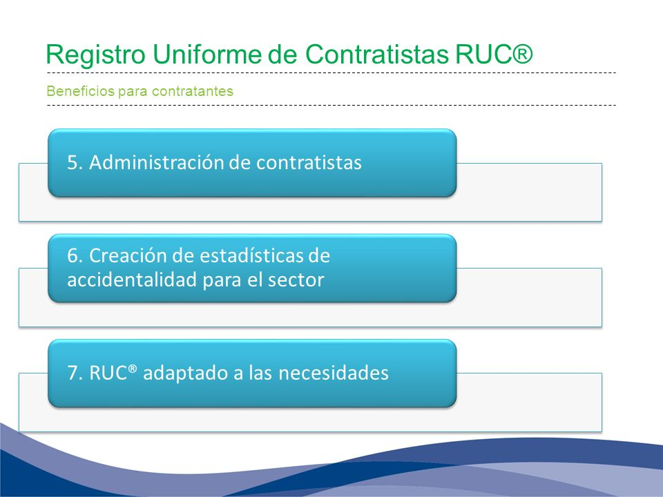 Registro Uniforme de Contratistas RUC®
