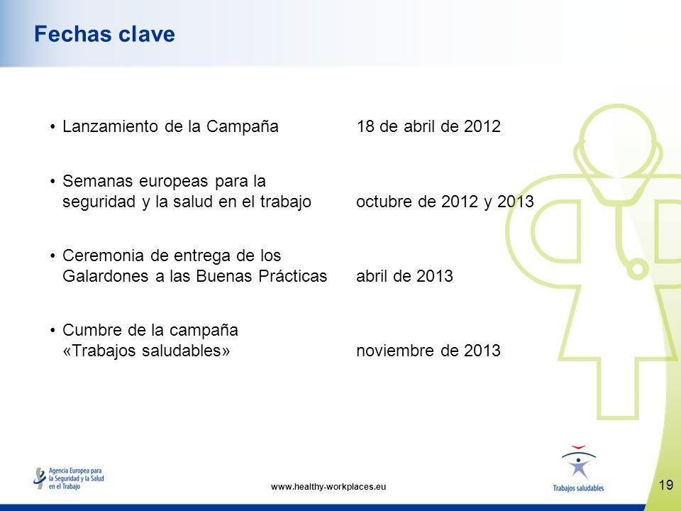 Fechas clave Lanzamiento de la Campaña 18 de abril de 2012