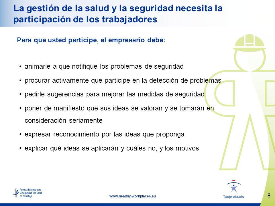 La gestión de la salud y la seguridad necesita la participación de los trabajadores