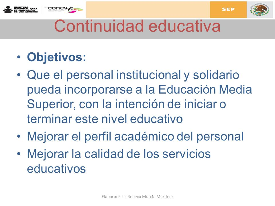 Continuidad educativa