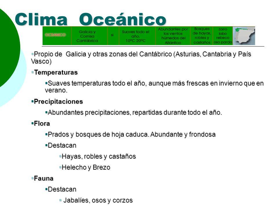 Los tipos de clima clima oce nico clima continental clima for Diferencia entre arboles de hoja caduca y hoja perenne