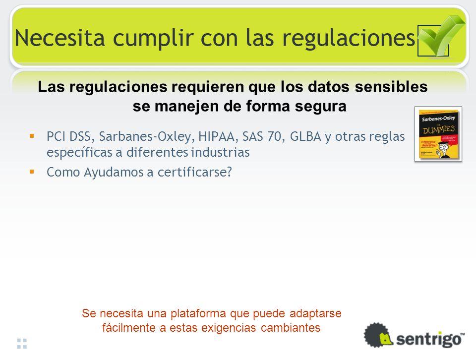 Necesita cumplir con las regulaciones