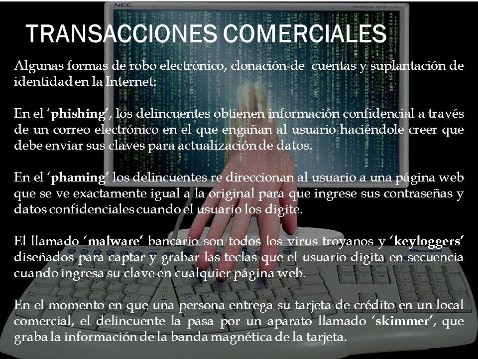 TRANSACCIONES COMERCIALES