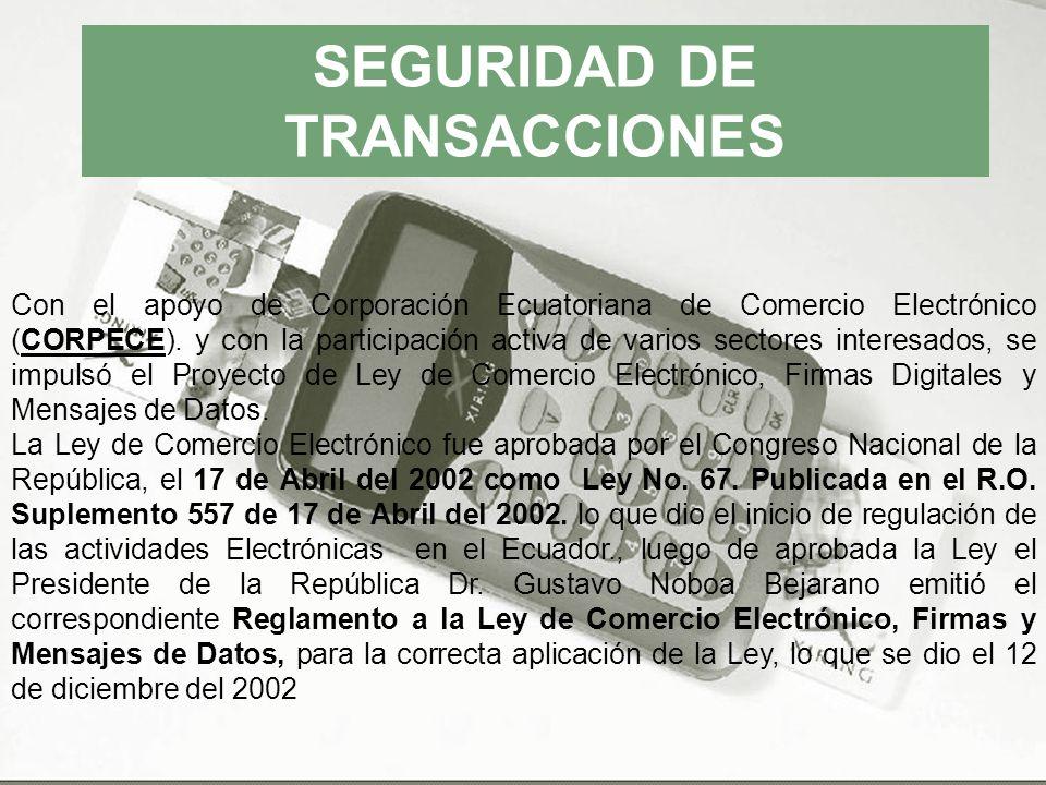SEGURIDAD DE TRANSACCIONES