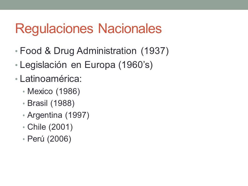 Regulaciones Nacionales