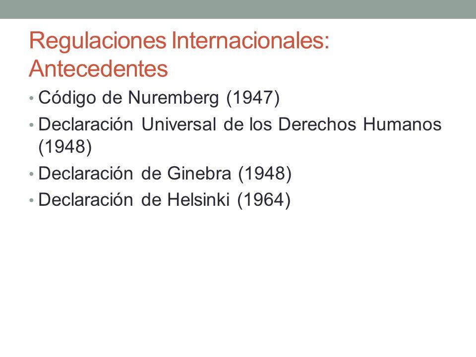 Regulaciones Internacionales: Antecedentes