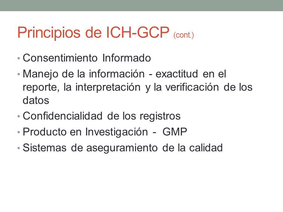Principios de ICH-GCP (cont.)
