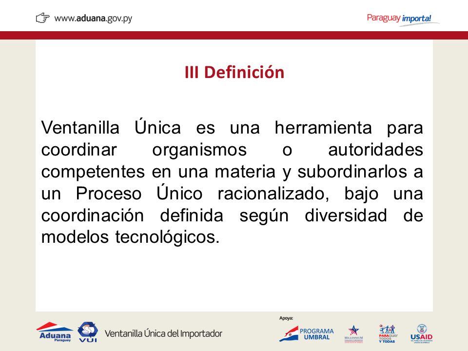 III Definición