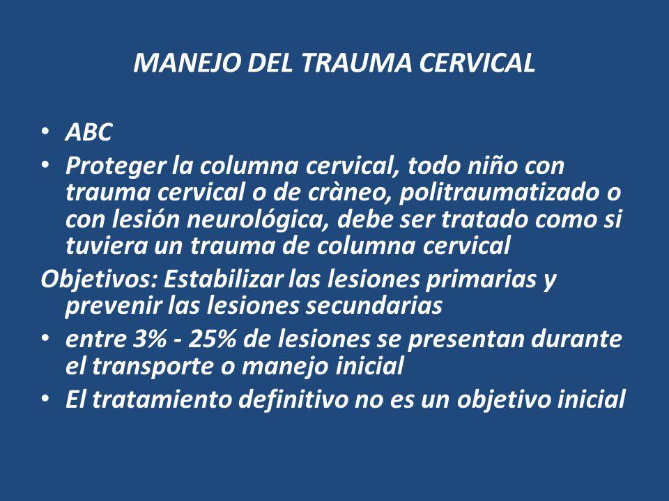 MANEJO DEL TRAUMA CERVICAL
