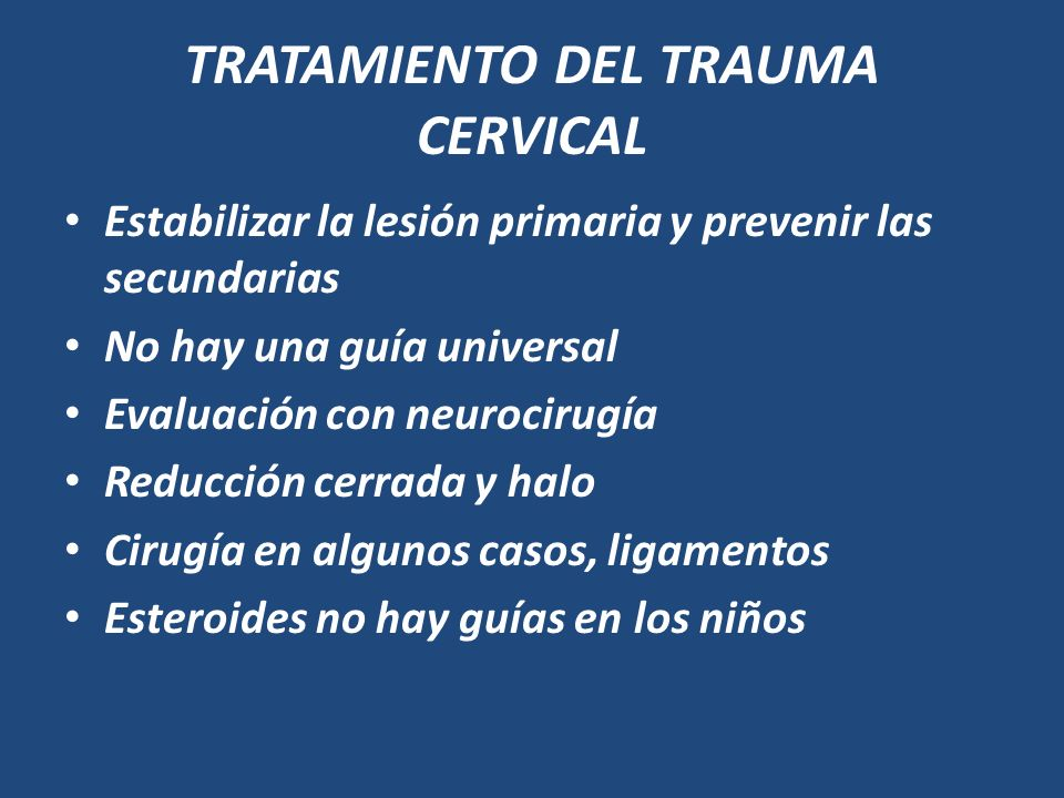 TRATAMIENTO DEL TRAUMA CERVICAL