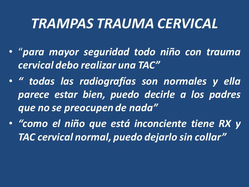 TRAMPAS TRAUMA CERVICAL