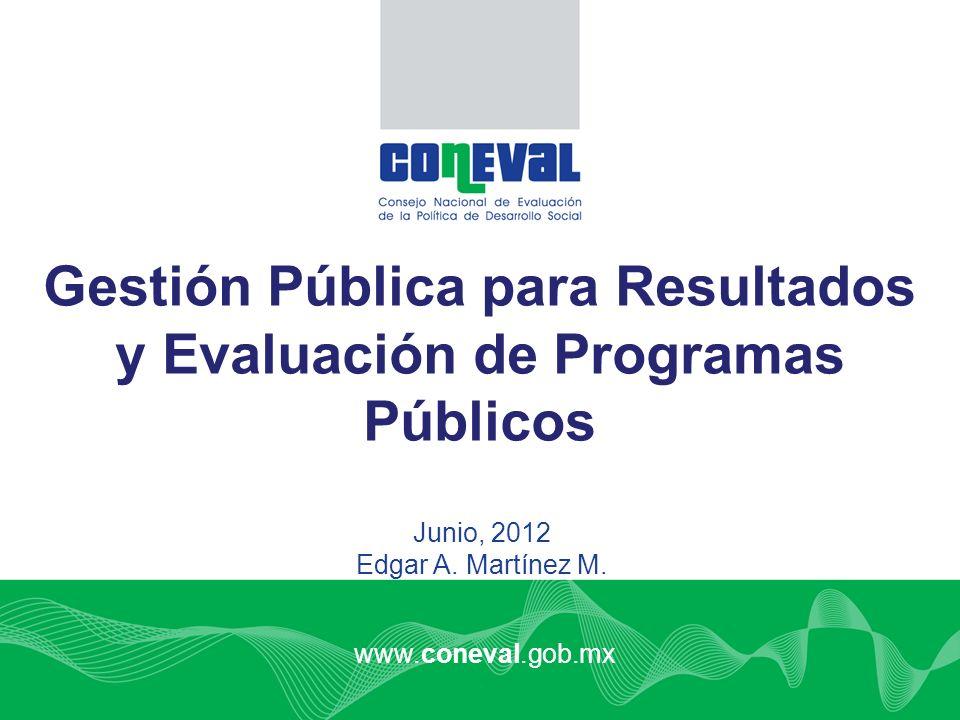 Gestión Pública para Resultados y Evaluación de Programas Públicos