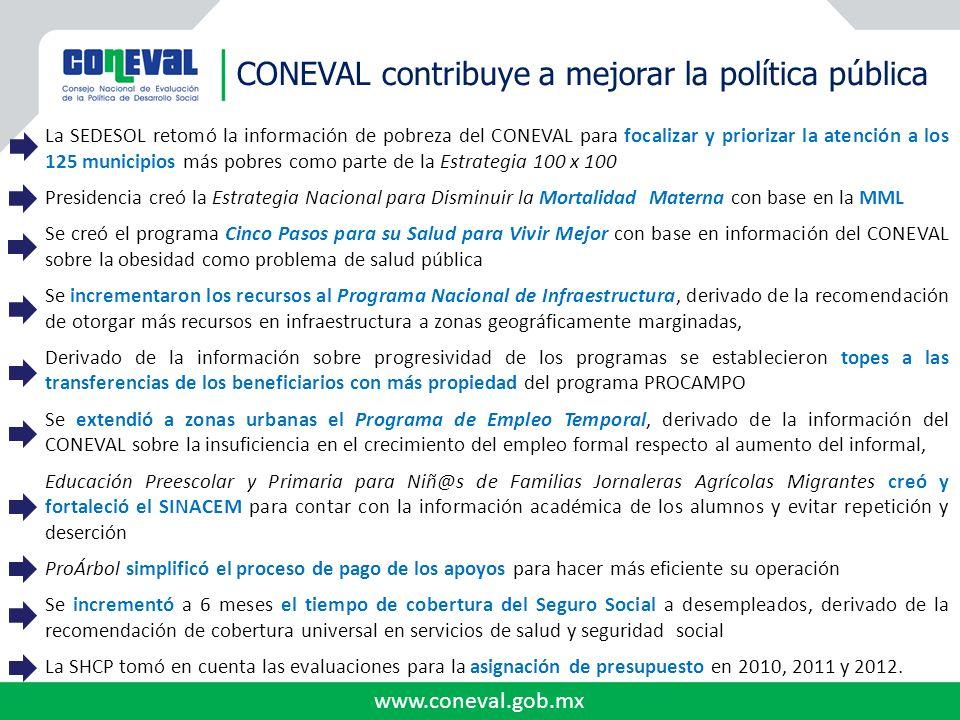 CONEVAL contribuye a mejorar la política pública