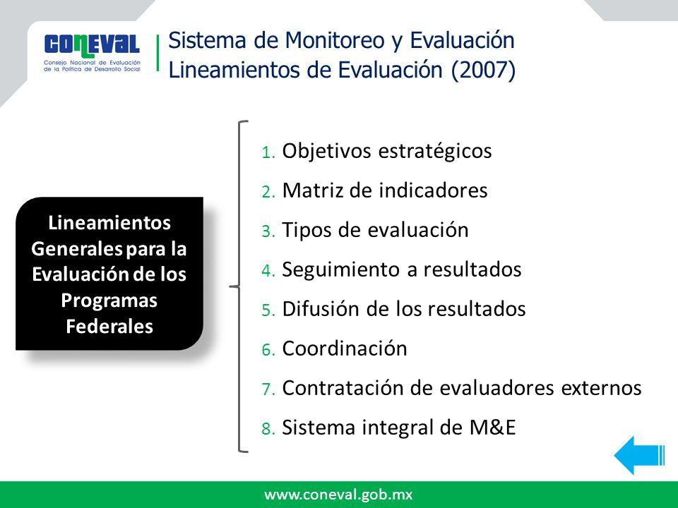 Lineamientos Generales para la Evaluación de los Programas Federales