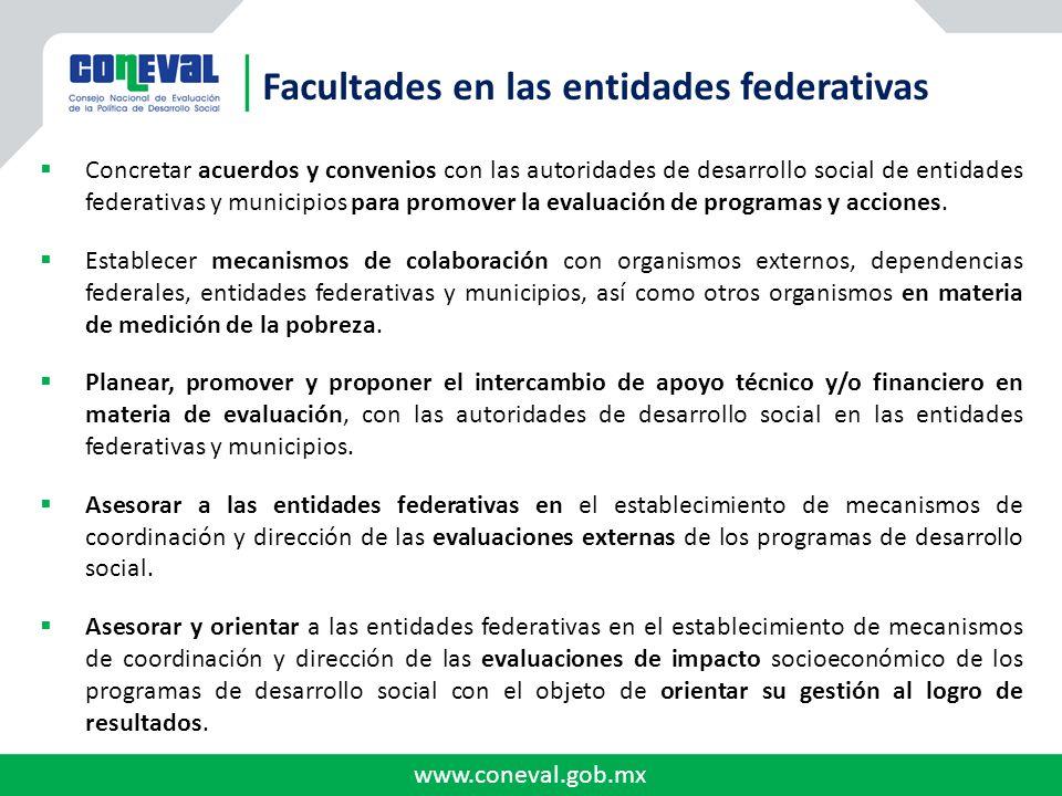 Facultades en las entidades federativas