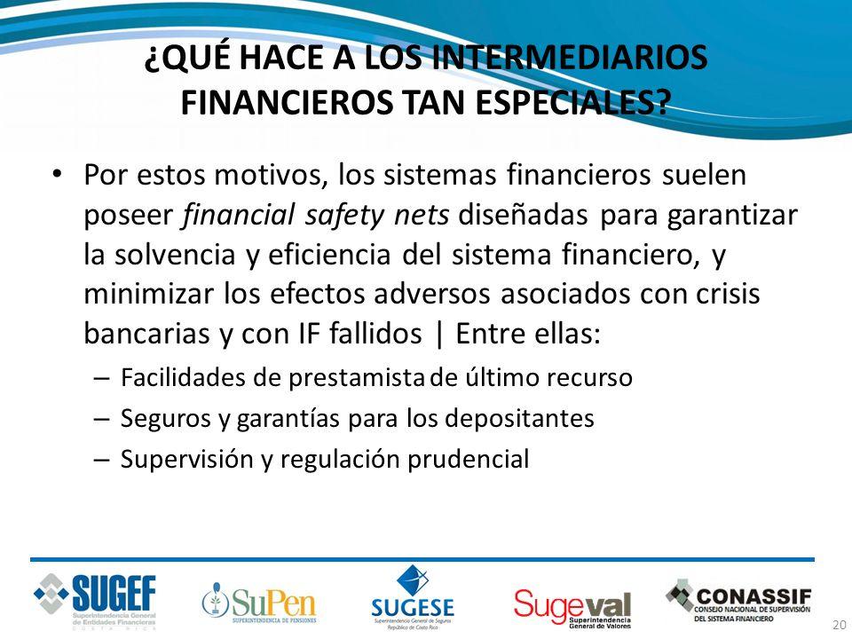 ¿QUÉ HACE A LOS INTERMEDIARIOS FINANCIEROS TAN ESPECIALES