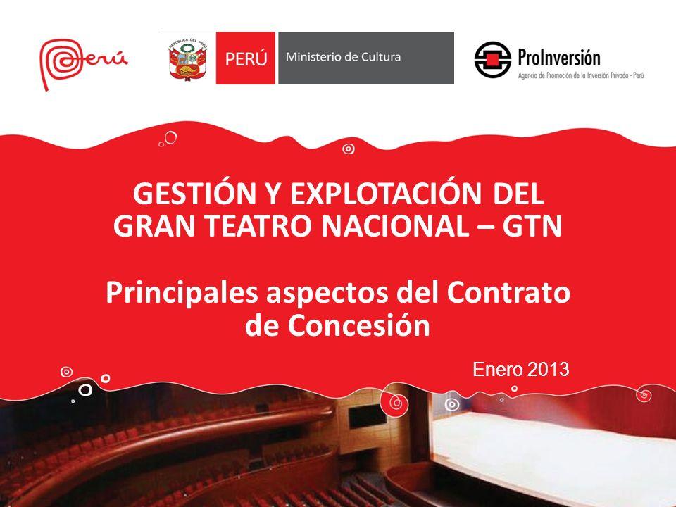 GESTIÓN Y EXPLOTACIÓN DEL GRAN TEATRO NACIONAL – GTN