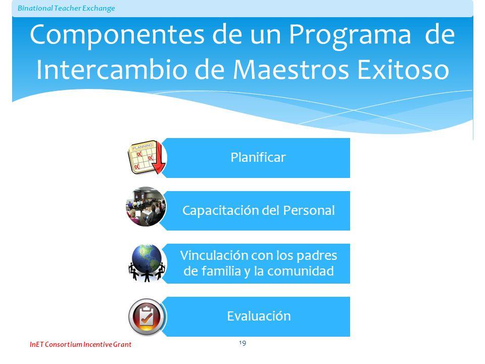 Componentes de un Programa de Intercambio de Maestros Exitoso