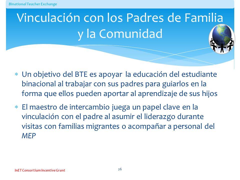 Vinculación con los Padres de Familia y la Comunidad